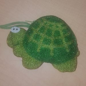 Turtle beaded Coin Purse